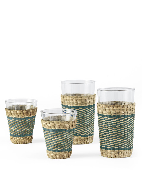 Seagrass-Wrapped Glasses