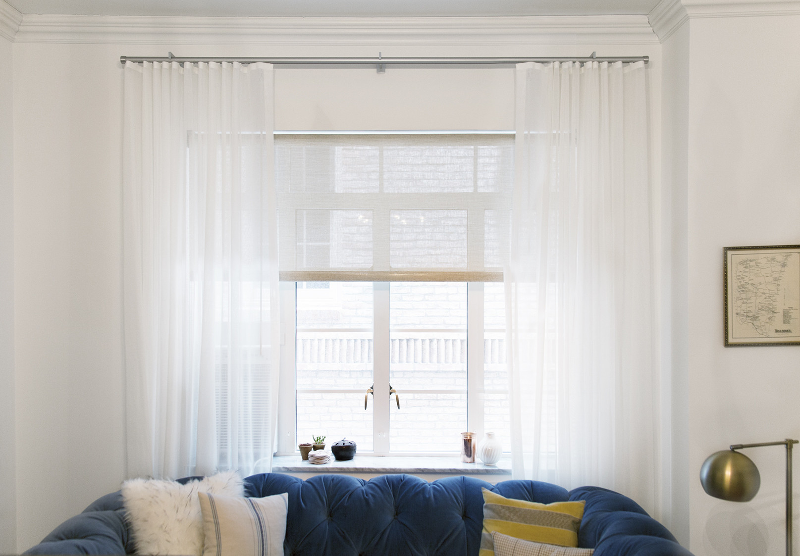 Before and After: Custom Window Treatments - Decorating - Lonny