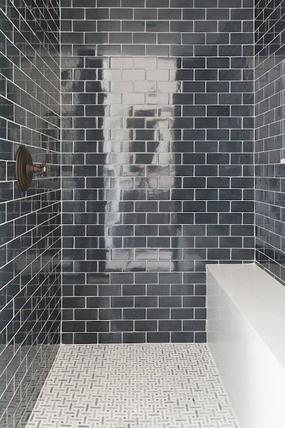 Totally Tiled Moody Bathrooms That Create The Ultimate Ambiance - Create tiled image