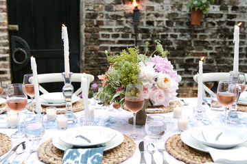 A Backyard Dinner Party in Charleston