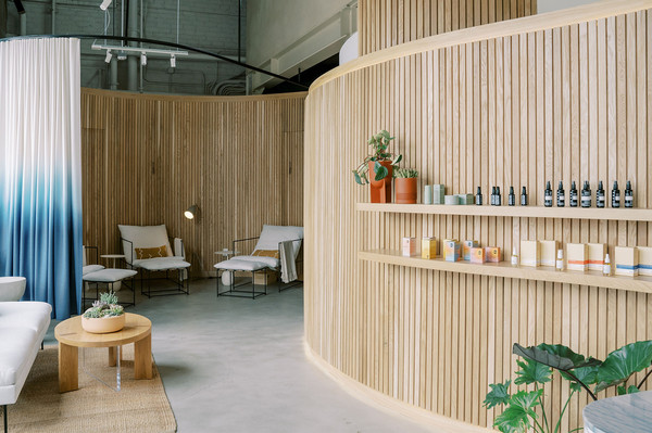 This L.A. Wellness Studio Is A Curvy, Earthy Oasis