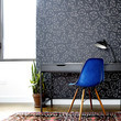 Stick-On Wallpaper And Wood Panels
