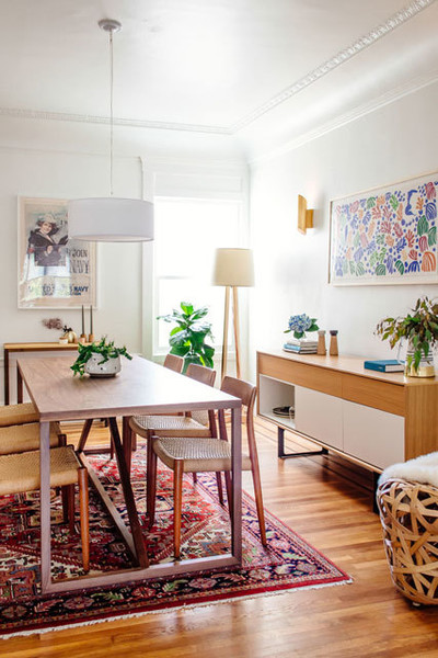 An Artful Bay Area Dining Room