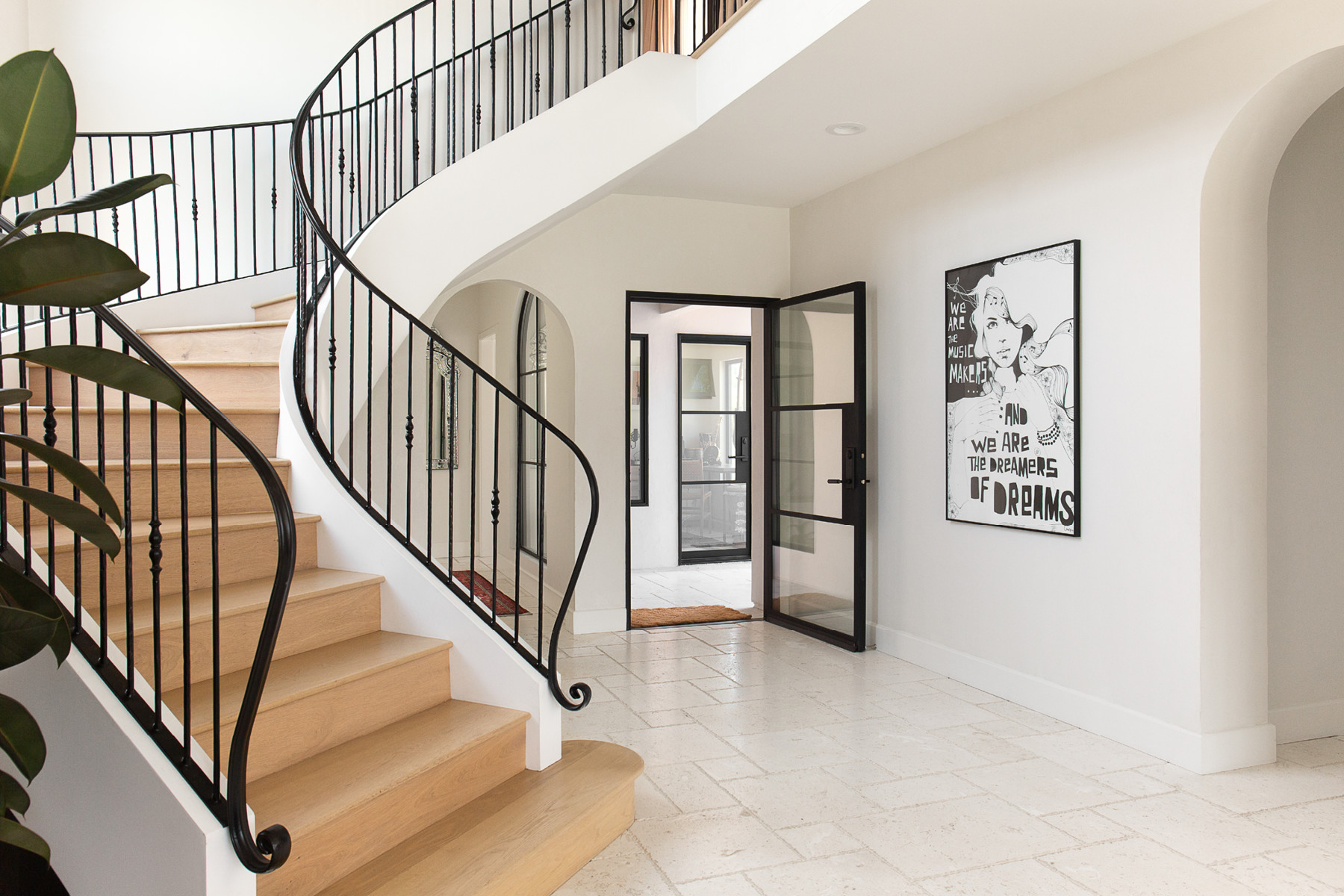 """""""The staircase was truly a work of art,"""" O&squot;Brien shares, noting the steps coastal influence. Custom Art."""