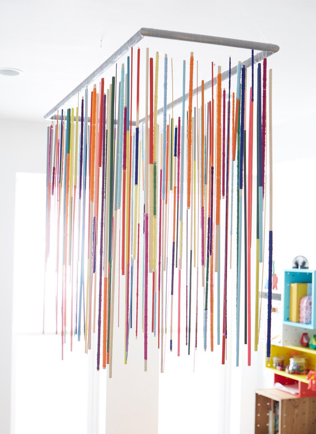 DIY Project: How to Make Dowel Rod Chandelier