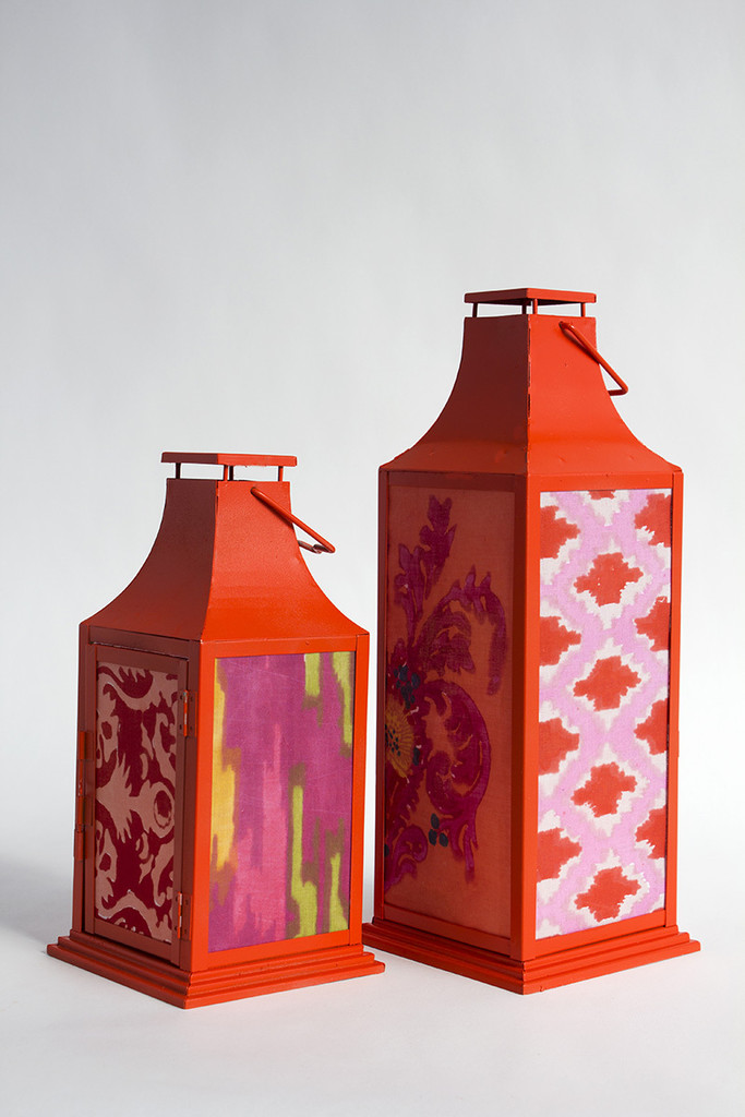 A Diy Fabric Covered Lantern Lonny
