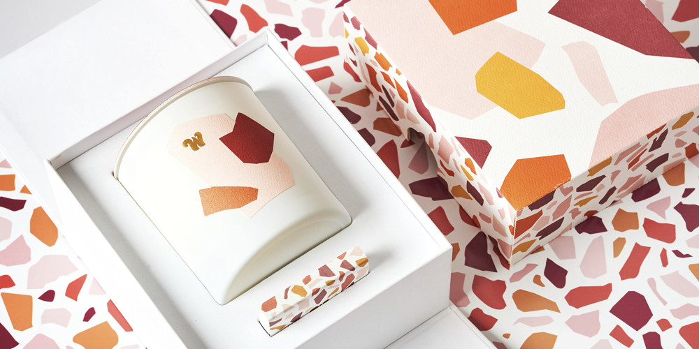 The Wing Made A Candle — And It's Terrazzo