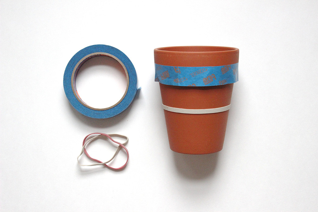 #Striped Flower and Plant Pots | Lonny.com