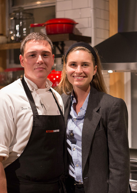 Chef Dante Giannini and the evening's host, FEED co-founder Lauren Bush Lauren.