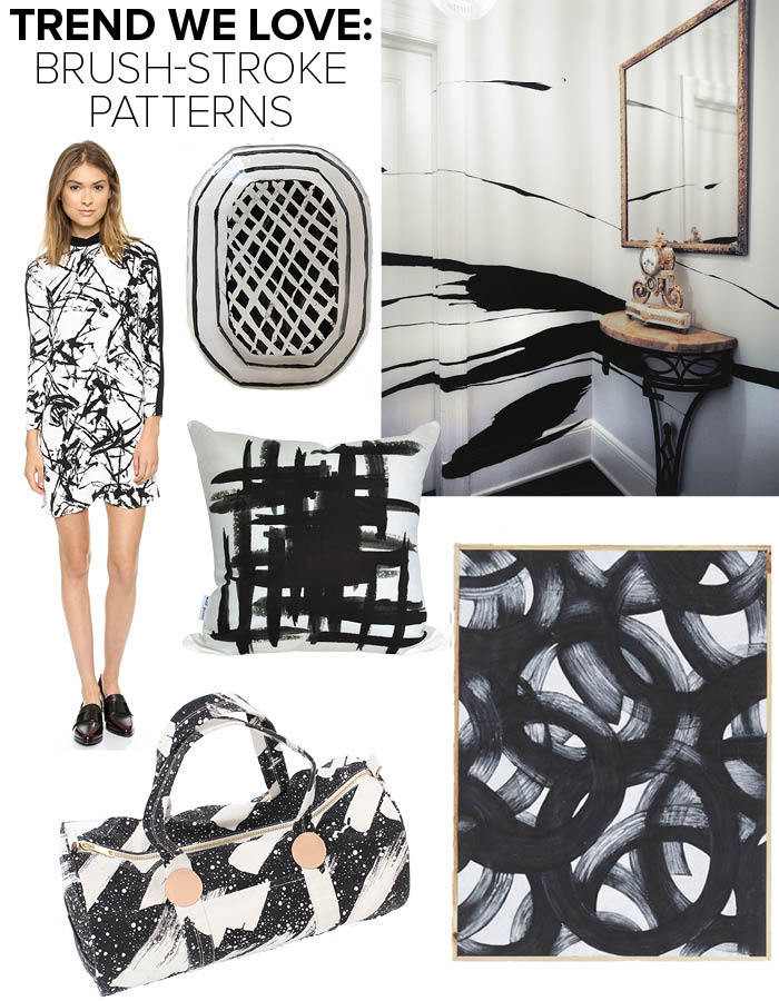 Trend: Black Brush Stroke Patterns