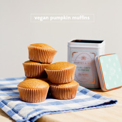 (Almost) Vegan Pumpkin Muffins You'll Love
