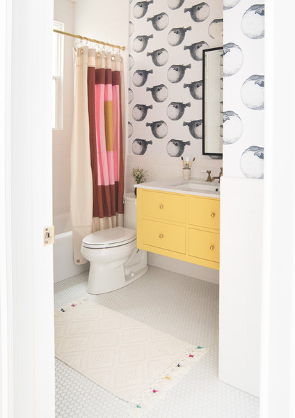First Things First 15 Ways To Make A Small Bathroom Pop Lonny