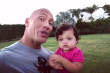 Dwayne 'The Rock' Johnson Shares Powerful Daddy-Daughter Message With New Pic of 1-Year-Old Jasmine