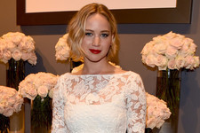 Jennifer Lawrence Looks Lovely in White Lace