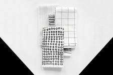 DIY To Try: Graphic Black And White Napkins
